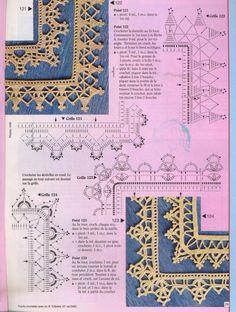crochet - bicos/barrados com cantos - corners - Raissa Tavares - Picasa Webalbums