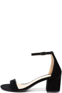 size 40 0198b bb572 There s a version of the Babe Squad Black Suede Heeled Sandals for every  gal in your