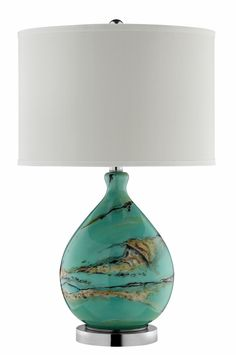 Morenci Glass Table Lamp in Green | Stein World Furniture | Home Gallery Stores