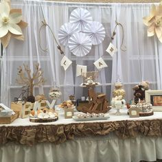 Rustic and vintage baby shower party! See more party planning ideas at CatchMyParty.com!