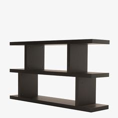 Available in black and white, tall or small, this bookshelf is practical and fun