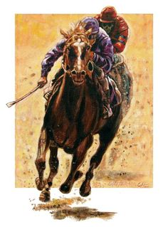 The Race - Paintings by John Lautermilch