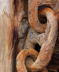 Wood + rust.