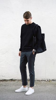 5 Best Outfits For The Minimalist At Heart 5 Minimal outfits for men fashion classy Stylish Mens Fashion, Minimal Fashion, Fashion Men, Minimal Clothing, Fashion Ideas, Most Stylish Men, Fashion Trends, Fashion Edgy, Fashion Quotes