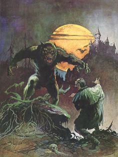 Werewolf vs Vampire by Frank Frazetta for CREEPY magazine