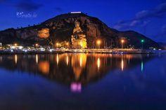 Tempio di Giove dalla spiaggia di Levante Terracina  ( LT) Italy Foto: Terracina foto
