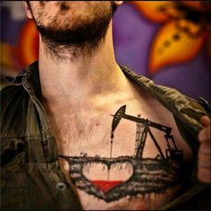 This roughneck quite literally holds the oilfield near and dear to his heart with this very creative oil rig tattoo. The oil and gas industry we know today... - Oilpro.com