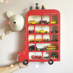 Shelf London Bus. Display Shelf. Toy Storage by Purplepollen