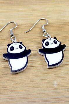 Maru Baby Panda Ghost Earrings - Perfect for Halloween!
