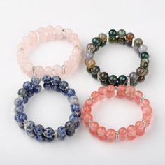 PandaHall Jewelry—Gemstone Round Beads Stretchy... | PandaHall Beads Jewelry Blog