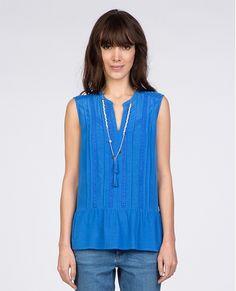 Peplum top | Tunics and shirts | Comptoir des Cotonniers