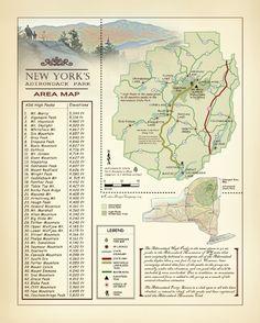 Adirondack Mountains Map Adirondack Park Map Adirondack