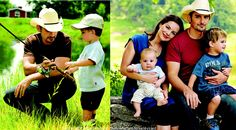 Brad Paisley and Kimberly Williams Paisley with their sons ...  Brad Paisley an...