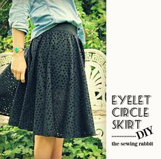 How to Sew an Eyelet Circle Skirt with Leggings