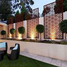Backyard Patio Designs, Small Backyard Landscaping, Landscaping Ideas, Backyard Ideas, Backyard Privacy, Privacy Fences, Backyard Playground, Fencing, Modern Garden Design
