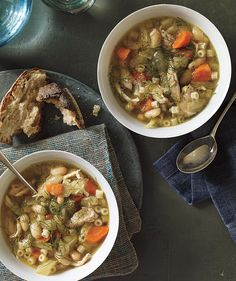 SlowSlow-Cooker Chicken, Fennel, and White Bean Soup Recipe
