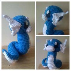 Dratini crochet. Patrón muy pronto disponible. #Dratini #Pokemon #Crochet #Amigurumipokemon