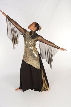 Worshiper Side V Tunic w/ Gold Flair