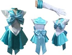 Sailor Moon Sailormoon Mercury Cosplay Costume with Gloves -- For more information, visit image link.