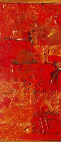 topcat77: Robert Rauschenberg Red Paint, 1953