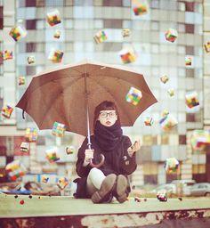 Rubik's cube rain