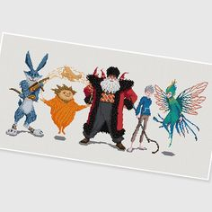 PDF Cross Stitch pattern : Rise of the Guardians by PDFcrossstitch