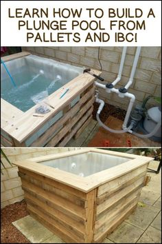 Cool yourself down anytime you want with this inexpensive DIY plunge pool! Is this going to be your next pallet project?