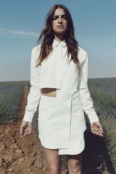 Jacquemus // deconstructed white shirt dress with cut-out details #style #fashion