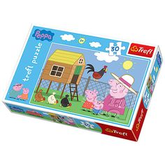 Peppa malac - Látogatás a tyúkólnál 30 db-os puzzle - Trefl Peppa Pig, Rainy Day Activities, Diy Sweatshirt, Farm Yard, After School, Minion, Little Ones, Toy Chest, Board Games