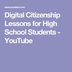 Collection of videos on YouTube from Common Sense Education. Many scenarios and prompts for discussion. Digital Citizenship Lessons, Detox Day, Cyber Safety, Digital Detox, Internet Safety, High School Students, Common Sense, Prompts, Teaching