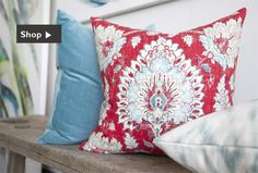Designer fabric, throw pillows, fabric swatches | Recommended by Designer Sarah Richardson | Tonic living