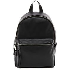 French Connection Perry Backpack ($50) ❤ liked on Polyvore featuring bags, backpacks, black, faux leather backpack, french connection bags, rucksack bags, vegan backpack and zip top bag