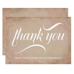 Bridal Shower Thank You Card Pink - invitations custom unique diy personalize occasions