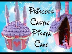 Wonderful tutorial on making a castle cake using a cupcake cake mold. Giant Cupcake Mould, Giant Cupcake Cakes, Large Cupcake, Cake Decorating Tutorials, Cookie Decorating, Cupcake Tutorial, Diy Tutorial, Pinata Cake, Princess Party