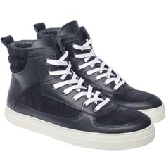 Noodles — Nighthawk navy sneaker Noodles, High Tops, High Top Sneakers, Navy, Men, Shoes, Collection, Fashion, Macaroni