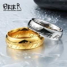 BEIER anillo de El Señor de los Anillos de moda de acero inoxidable 316l anillo de los hombres populares joyas exqusite BR-R059
