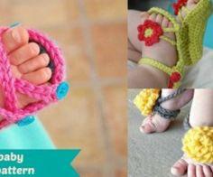 25 Free Crochet Baby Sandals Patterns   UsefulDIY.com