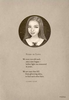 Lang Leav poem for Maine Mendoza.