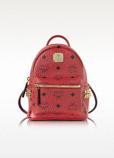 4ee2cf4c412 MCM Ruby Red X-Mini Stark Backpack.  mcm  bags  leather