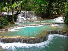 아름다운 계단식 호수? 계단식 폭포?