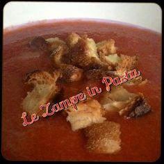 #gatzpacho #foodporn #food #lunch #vegetariano#foodgasm #instafood #spain #work#vegetables #spanish #bevichetipassa #piattifreschi #primipiatti #zuppe #verdure #myrecipes #myrecipebook  Http:zampeinpasta.blogspot.it