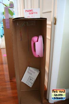 Cardboard box Telephone booth