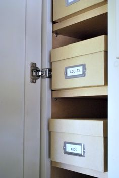 organize your medicine cabinet with photo boxes