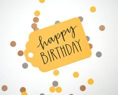 happy birthday in modern calligraphy - Google Search