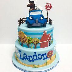 little blue truck cake - Google Search