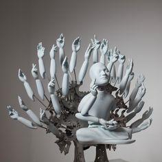 Meditating cyborgs by Ziwong Wang