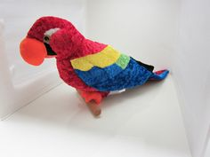 Beach decor or great toy! Parrot Macaw Tropical Bird 24 inch Large Plush Toy Decor Great American Toy Co. #GreatAmericanToyCo