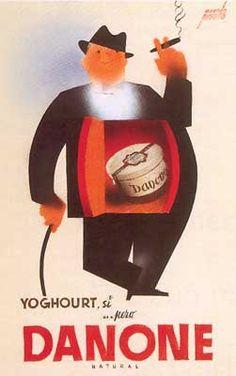 Manolo Prieto. Danone. 1944. #design #graphic #spain                                                                                                                                                                                 Más
