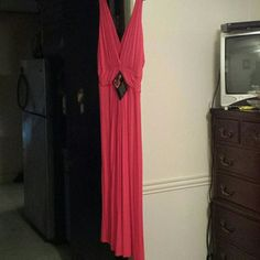 Iman hot pink dress Gorgeous v-neck and V back dress pink dress it up or dress it down with the right accessories and let Iman become your's Iman Dresses Maxi