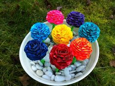 DIY Colorful Duct Tape Flower Pens | 101 Duct Tape Crafts Duct Tape Projects, Duck Tape Crafts, Fun Projects, Duct Tape Pens, Duct Tape Flowers, Fall Crafts, Crafts For Kids, Arts And Crafts, Diy Crafts